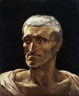 Romanticism Painting - Head Of A Shipwrecked Man by Theodore Gericault