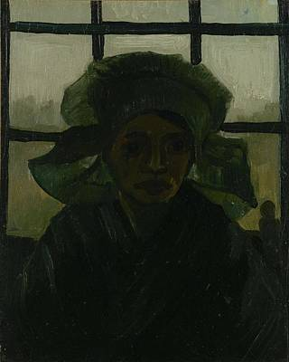 Painting - Head Of A Woman Nuenen, March 1885 Vincent Van Gogh 1853  1890 by Artistic Panda