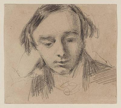Head Of A Young Man Print by William Henry