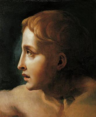 Children Painting - Head Of A Youth by Theodore Gericault