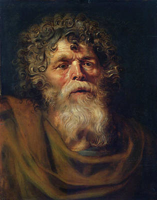 Old Painting - Head Of An Old Man by Peter Paul Rubens