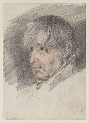 Head Of An Old Man Art Print by William Henry