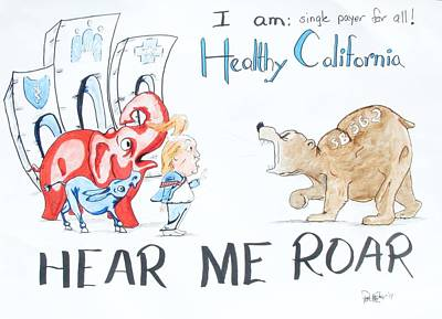 Drawing - Hear Me Roar by Patricia Kanzler