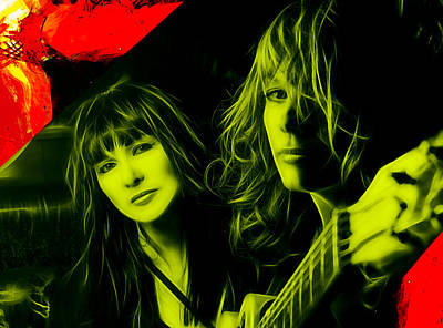 Heart Ann And Nancy Wilson Collection Art Print by Marvin Blaine
