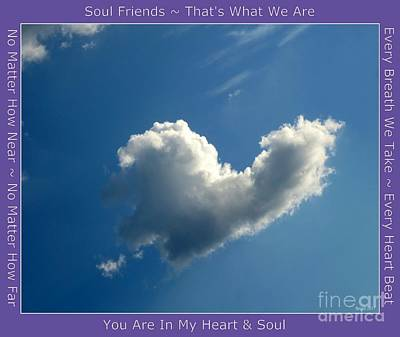 Photograph - Heart Cloud Sedona by Marlene Rose Besso
