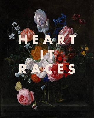 Digital Art - Heart It Races Print by Georgia Fowler