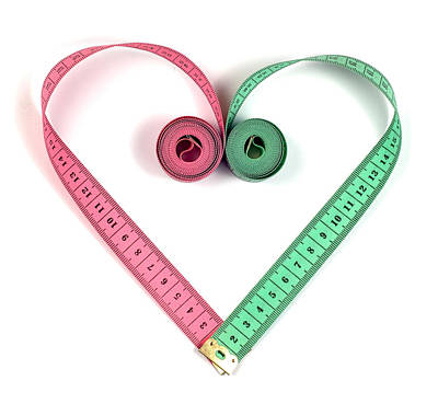 Component Mixed Media - Heart Measuring Tape by Boyan Dimitrov