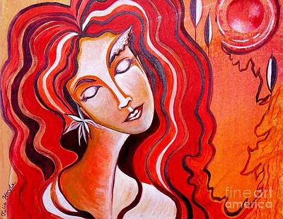 Painting - Heart Of Fire by Julie Hoyle