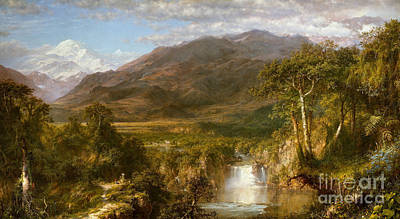 Nature Scene Painting - Heart Of The Andes by Frederic Edwin Church