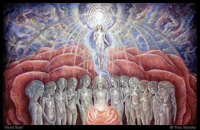 Spirituality Painting - Heart Rose by Vera Atlantia