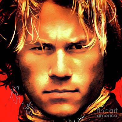 Heath Ledger Digital Art - Heath Ledger Art With Autograph by Kjc