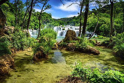 Photograph - Heavenly Waterfalls Of Skradinski Buk At Krka National Park In Croatia by Global Light Photography - Nicole Leffer