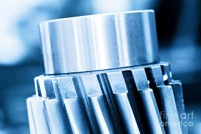 Machinery Photograph - Heavy Industrial Element Screw by Michal Bednarek