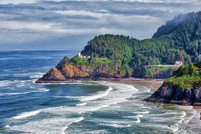 Photograph - Heceta Head Light - Color by Harold Rau
