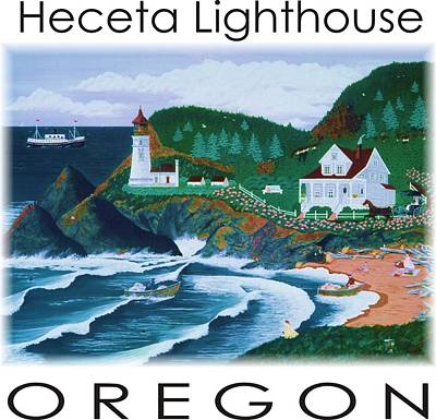 Painting - Heceta Lighthouse by Jennifer Lake