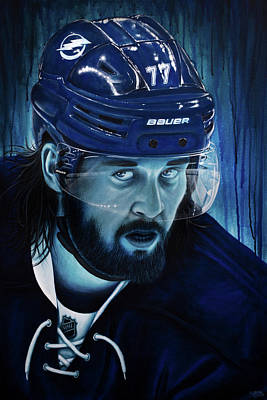 Hockey Painting - Hedman by Marlon Huynh