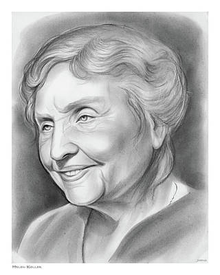 Drawing - Helen Keller by Greg Joens