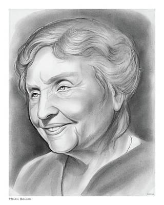 Helen Drawing - Helen Keller by Greg Joens