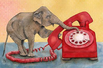 Painting - Trunk Call by Marie Stone Van Vuuren