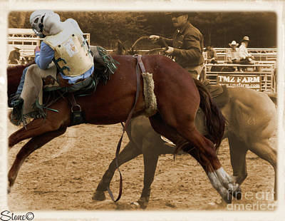 Photograph - Helluva Rodeo-the Ride 6 by September  Stone