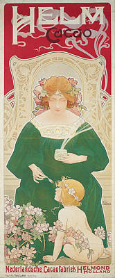 Painting - Helm Cacao by Henri Privat-Livemont