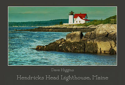 Digital Art - Hendricks Head Lighthouse, Maine by Dave Higgins