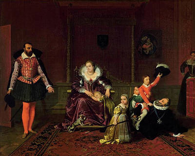 Monarch Painting - Henry Iv Of France Playing With His Children by Jean-Auguste-Dominique Ingres