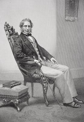 Henry Wadsworth Longfellow 1807 1882 Art Print by Vintage Design Pics