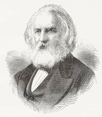 Henry Wadsworth Longfellow, 1807 Art Print by Vintage Design Pics