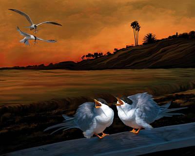 Laguna Beach Digital Art - Here Comes Dinner by Thanh Thuy Nguyen