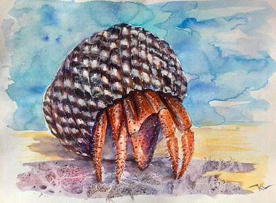Painting - Hermit Crab 4 by Katerina Kovatcheva
