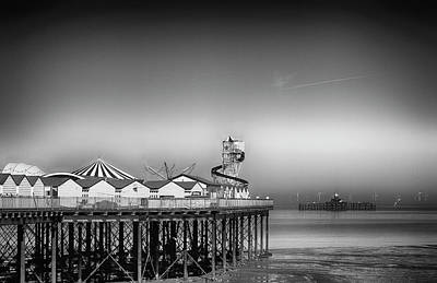 Photograph - Herne Bay Old And New Pier Kent  by David French