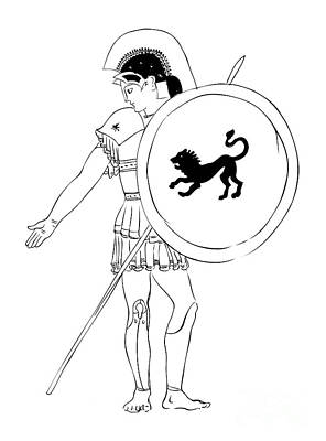 hero - warrior of ancient Greece Art Print