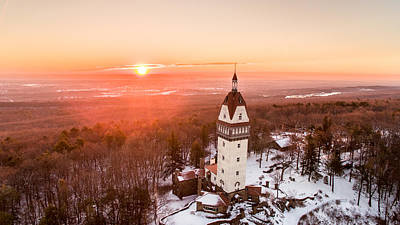 Heublein Tower In Simsbury, Connecticut Art Print