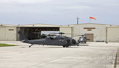 Hh-60g Pave Hawk Helicopters At Kadena Art Print by HIGH-G Productions