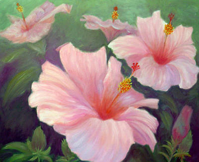 Painting - Hibiscus by Irene Hurdle