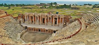Photograph - Hierapolis Theater by Lisa Dunn