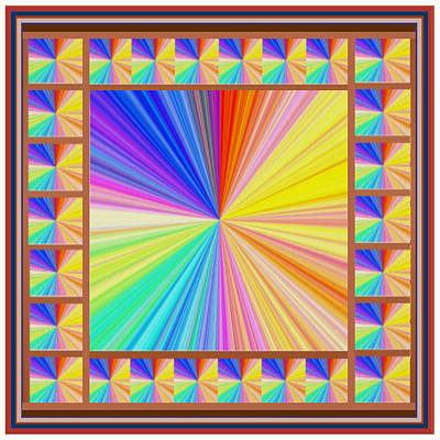 High Energy Sparkle Rainbow Decorations Art Print by Navin Joshi