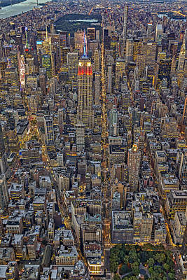 Empire State Photograph - High Over Manhattan by Susan Candelario
