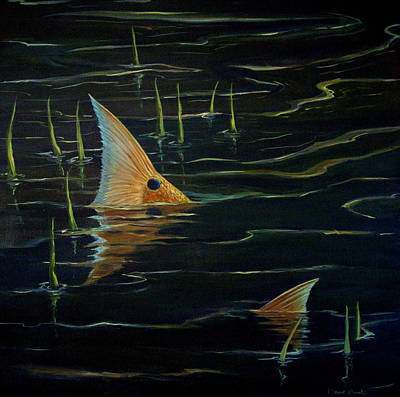 Salt Flats Painting - High Tide Tails by Dave Combs