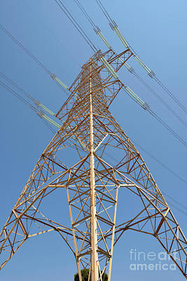 Tower Photograph - High Voltage Pylon by George Atsametakis