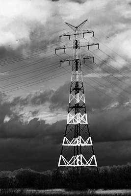 High-voltage Tower Art Print by Boyan Dimitrov