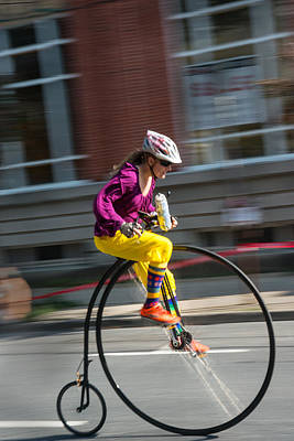 Photograph - High-wheel Bike Race - Frederick M  by Dana Sohr