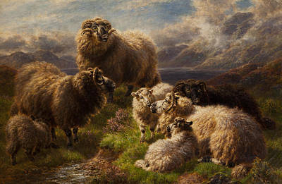 Nature Scene Painting - Highland Cattle by William Watson