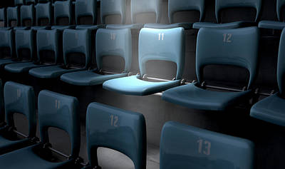 Focal Digital Art - Highlighted Stadium Seat by Allan Swart
