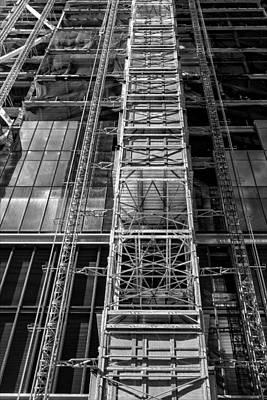 Katharine Hepburn - Highrise Under Construction by Robert Ullmann