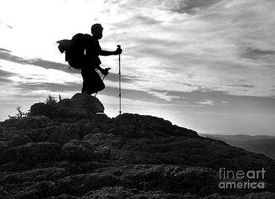 Photograph - Hiker Silhouette by Glenn Gordon