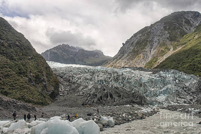 Photograph - Hikers Near The Glacier by Patricia Hofmeester