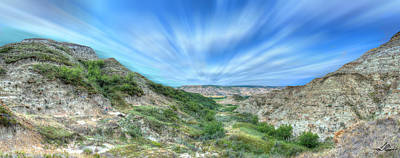 Photograph - Hiking The Alberta Badlands by Philip Rispin
