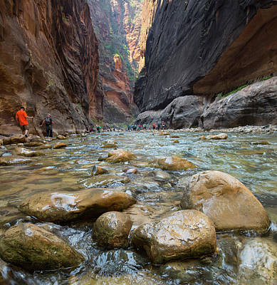 Photograph - Hiking The Narrows by Sue Cullumber